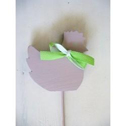 Fioletowa kurka - ozdoba wielkanocna