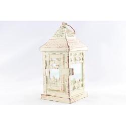 Lampion vintage kremowy 18cm