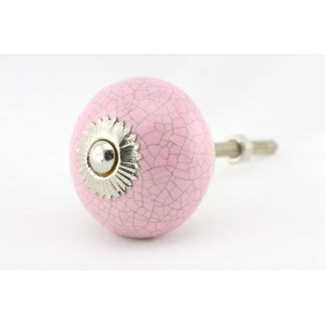 Różowa gałka w stylu vintage