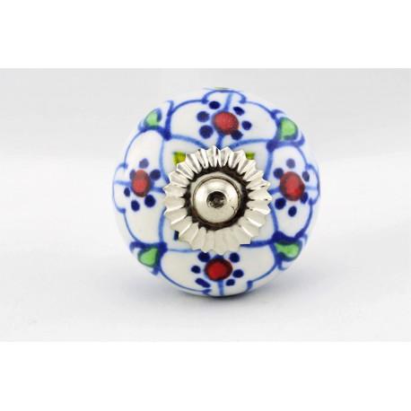 Biało-niebieska rączka do mebli  w stylu orientalnym