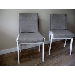 Krzesło popielate lata 70