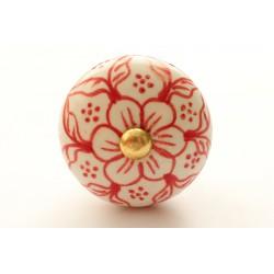 Białe rączki w czerwone kwiatki