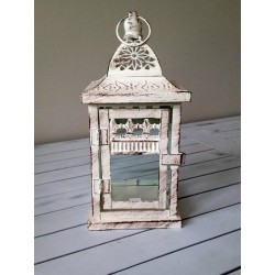 Lampion kremowy w stylu vintage 25cm