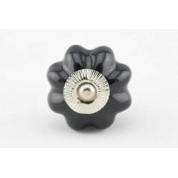 Czarny ceramiczny uchwyt ze srebrnym okuciem
