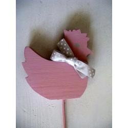Kurczaczek różowa - ozdoba wielkanocna