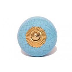 Niebieska gałka w stylu vintage