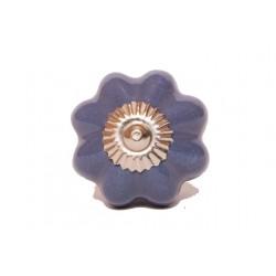 Fioletowa gałka do mebli w kształcie rozety