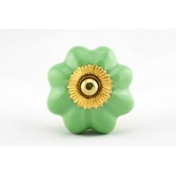 Zielony ceramiczny uchwyt do mebli ROZETA