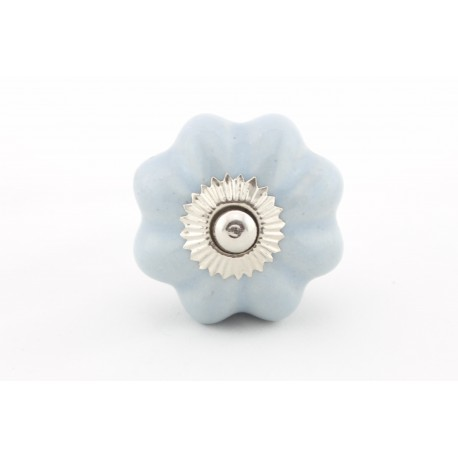 Niebiesko-szary ceramiczny uchwyt do mebli odcień jasny